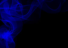 Abstract waves or smoke background. Illustration in blue colors Royalty Free Stock Image