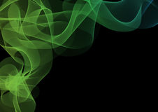 Abstract waves or smoke background. Illustration in green colors Stock Photos