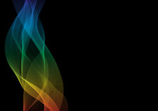 Abstract waves or smoke background. Illustration in spectrum colors Stock Image