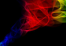 Abstract waves or smoke background. Illustration in spectrum colors Royalty Free Stock Images