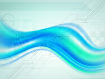 Abstract waves for Technology concept. Royalty Free Stock Photography