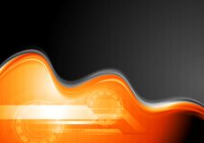 Abstract waves technology design Royalty Free Stock Images