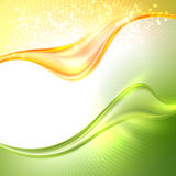 Abstract waving background. Abstract green and yellow waving background royalty free illustration