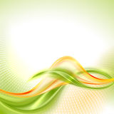 Abstract waving background. Abstract green and yellow waving background stock illustration