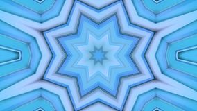 Abstract waving blue 3D polygonal grid or mesh of pulsating geometric objects. Use as abstract cyberspace. Geometric. Abstract waving 3D grid or mesh of stock video footage