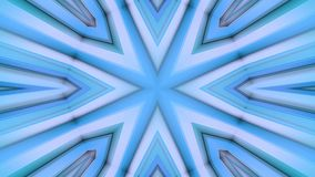 Abstract waving blue 3D polygonal grid or mesh of pulsating geometric objects. Use as abstract cyberspace. Geometric. Abstract waving 3D grid or mesh of stock footage