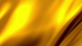 Abstract waving golden flag background stock video