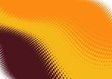 Abstract wavy background. An abstract background of orange, yellow and brown colors, arranged in wavy bands and blended artistic shapes between bands stock illustration