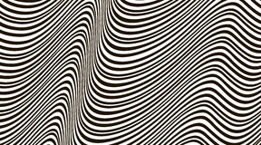 Abstract wavy background. Black and white pattern. Stock Photo