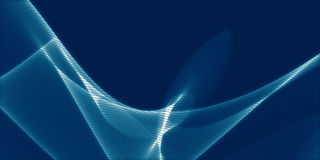 Abstract wavy background in blue Stock Images
