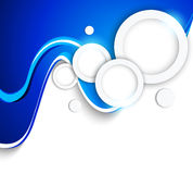 Abstract wavy background with circles Stock Photography