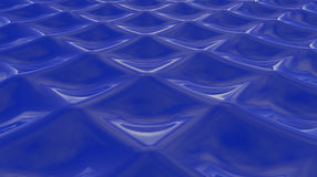 Abstract wavy background 3D Illustration Stock Photography