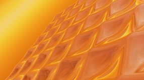Abstract wavy background 3D Illustration Stock Photos