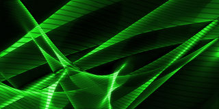 Abstract wavy background in green Royalty Free Stock Image