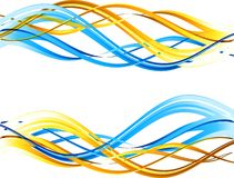 Abstract wavy background. The illustration contains the image of Abstract wavy background royalty free illustration