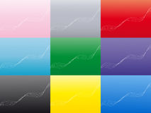 Abstract wavy background in a multi color pack. This vector image representing an abstract background with wavy lines comes with 9 different color variations Stock Photos