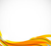 Abstract wavy background in orange color. This is file of EPS10 format Stock Photo