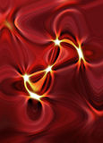 Abstract wavy background in red and yellow tones Stock Photo
