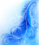 Abstract wavy background with scrolls. Abstract blue background with scrolls and grunge elements Royalty Free Stock Photo
