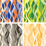 Abstract wavy background. Vector set. Stock Image