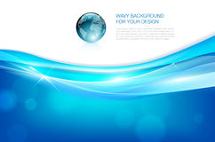 Abstract wavy background for your design Royalty Free Stock Photography