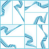 Abstract wavy backgrounds. Set of abstract wavy backgrounds, vector illustration stock illustration