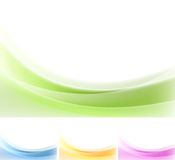 Abstract wavy backgrounds. Gradient mesh Royalty Free Stock Photos