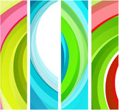 Abstract wavy banners Stock Photography