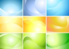 Abstract wavy banners vector set Stock Image
