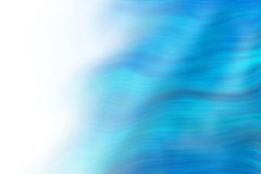 Abstract wavy blue lines. Blending in white royalty free illustration