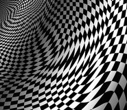 Abstract wavy chess background. Abstract  wavy chess background Royalty Free Stock Photo