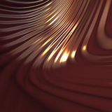 Abstract  wavy chocolate texture or background. 3d illustraton Royalty Free Stock Photos