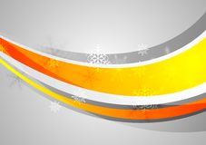 Abstract wavy Christmas background Stock Image