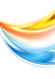 Abstract wavy colorful background Stock Image