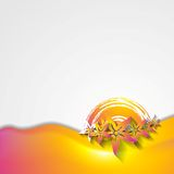 Abstract wavy colorful flowers design. Vector grunge design Stock Image