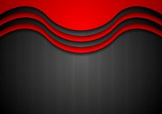 Abstract wavy corporate background Royalty Free Stock Photos