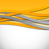 Abstract wavy design background stock illustration