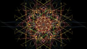 Abstract wavy design element on black background. Silk symmetry series royalty free illustration