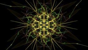 Abstract wavy design element on black background. Silk symmetry series stock illustration
