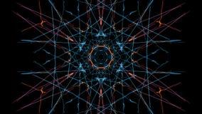 Abstract wavy design element on black background. Silk symmetry series vector illustration