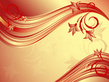 Abstract wavy floral vector Stock Photos