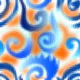 Abstract wavy geometric pattern on white background. Stock Photo