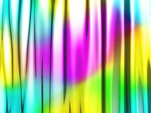 Abstract wavy glossy colorful shiny metallic background. 3d render illustration Stock Images