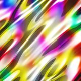 Abstract wavy glossy colorful shiny metallic background. 3d render illustration Royalty Free Stock Photo