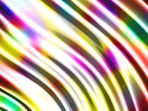 Abstract wavy glossy colorful shiny metallic background. 3d render illustration Royalty Free Stock Photos