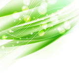 Abstract wavy green background Royalty Free Stock Image