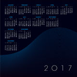 A 2017 abstract wavy line calendar Stock Photos