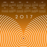 A 2017 abstract wavy line calendar Stock Image