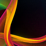 Abstract wavy lines background illustration. High quality horizontal web banner illustrations Royalty Free Illustration