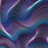 Abstract wavy lines background with pink and blue colors.  Royalty Free Stock Photography